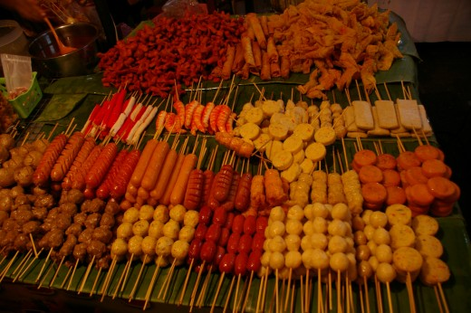 Best food asia - things on a stick