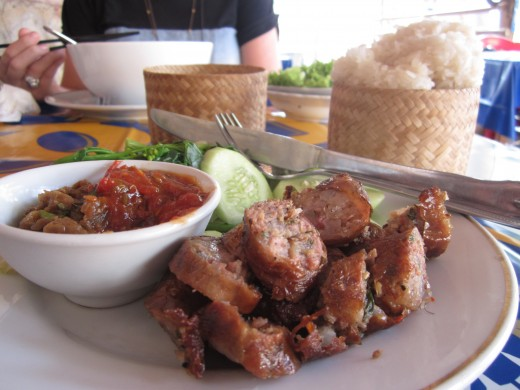 Laos sausage - the best food in Asia